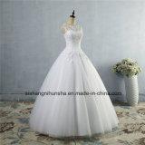 Les propriétaires ont fait à lacet la robe de mariage formelle de robe de mariage dans le lacet