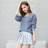 여자 스웨터 형식 v 목 태양열 집열기 긴 소매에 의하여 뜨개질을 하는 스웨터
