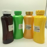 Vazio de plástico PET 250cc Waistting vaso em forma de produtos para a Pastoral com tampa articulada