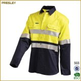 O uniforme da equipe de funcionários da combinação do revestimento da tira reflexiva da segurança da venda quente ou o Workwear o mais novo da segurança