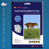 papel lateral dobro superior da foto do Inkjet de 255GSM A4
