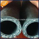 R3/duplo trançado de fibra de mangueira de borracha hidráulico