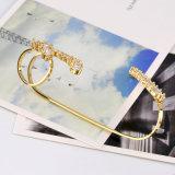실제적인 금 도금된 구리 형식 여자 지르콘 종려 팔찌 R218