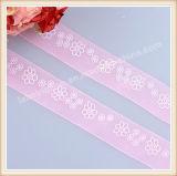 Изготовленный на заказ цветастая декоративная тесемка Organza тесемки венчания