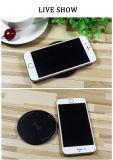 10W голодают сплава цинка заряжателя Qi обязанности 2.0 раковина стандартного беспроволочного ультратонкая на iPhone x Samsung S8