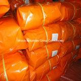 PE van China de Maagdelijke Materiële Waterdichte Fabriek van uitstekende kwaliteit van het Geteerde zeildoek met Zwarte Hoek