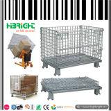 Caixa de recipiente de gaiola de malha de arame para armazenamento