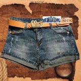 De Korte Jeans van het Denim van eenvoudige Toevallige Vrouwen (Lichte Black/HDLJ0016)
