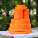 A fábrica produz amostra grátis cor de laranja com gancho e Tape