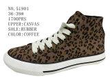 No. 51901 stampa del leopardo del Fashion Canvas Stock Shoes della signora