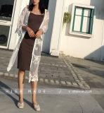 أنثى [شفّون] وزرة يقوّي فصل خريف خارجا شريط وزرة طويلة كم نساء قميص أعلى وزرة