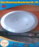 스테인리스 타원형 접시에 담긴 헤드의 정확한 크기