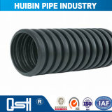 Schwarzes Plastikrohr sortiert HDPE doppel-wandiges gewölbtes Rohr