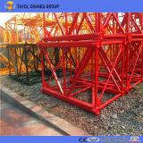 O melhor guindaste de torre modelo de Qtk do equipamento de construção da qualidade com GV