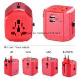 Adaptateur de voyage avec 2 ports USB, USA/UK/UE/Aus plug
