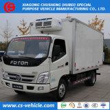 2018 il mini trasporto refrigerato della verdura fresca di vendita diretta della fabbrica dei camion 3tons di nuovo disegno trasporta i camion su autocarro refrigerati congelatore di Foton