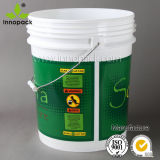 5 colorati Gallon Food Grade Plastic Paint Pail con Lid