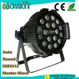 18pcs LED 10W RGBW 4en1 a la par de LED de iluminación puede