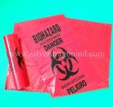 Biohazards Wegwerfkrankenhaus-Abfall-Beutel, Gelb, Rot, blau