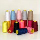 100 % filé teint fils de polyester de couleur du fil à coudre cône en plastique 40S/2