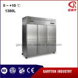 En position verticale solide cuisine porte réfrigérateur (TJB-DB-1380) le matériel de réfrigération