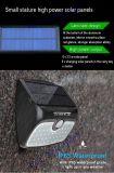 La spaccatura Integrated aggiornata ha montato 48 il LED 900 Lm contro 38 la lanterna senza fili Montion dell'indicatore luminoso di inondazione della parete del LED degli indicatori luminosi IP65 38-LED della lampada esterna impermeabile solare del giardino LED