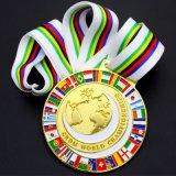 Les chinois à bas prix double côté brillant personnalisé de la nouveauté de l'émail doux Logo Alliage de zinc métal 3d attribution de souvenirs Sport Médaille d'or faux
