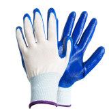Blauwe rubberen handschoenen zijn slijtvast, oliebestendig en licht