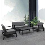 Lazer moderno Pátio Exterior sofá de alumínio Mobiliário de Jardim define