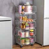 Wlt C21 Heavy Duty Rack de stockage en acier chromé sur le fil d'étagères de cuisine