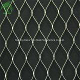 X-tendent la corde de fils en acier inoxydable de filets à mailles métalliques La protection de clôture