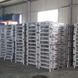 Depósito de almacenamiento personalizado revestido de polvo de un lado del metal del acero Pallet