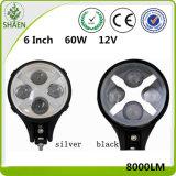 6 lumière de travail de pouce 60W 12V DEL