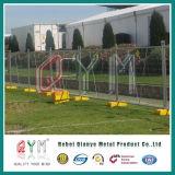 電流を通された一時塀または溶接された網の一時塀のパネルか取り外し可能な塀