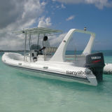 Liya 22ft yacht de luxe de la coque en fibre de verre bateau gonflable Yacht thoracique