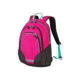 A forma cor-de-rosa caçoa a trouxa do portátil de Schol do saco dos esportes