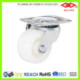 rotella di plastica bianca della macchina per colata continua del piatto della parte girevole di 65mm (P108-30B065X25)