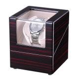 Bobinier automatique en bois à haute brillance de montre de montre-bracelet simple