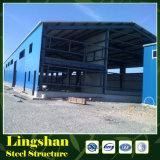 Estructura de acero prefabricada del palmo grande para la vertiente de la granja