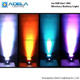 Luz de batería sin hilos de 4X12W 6in1 Irc Uplight