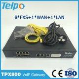Prise en charge Telepower ATA standard automatique 8 ports FXS VoIP de passerelle RTPC