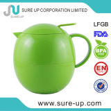 Brocca di plastica della boccetta del caffè colorata stile rotondo verde dell'uovo (JGFJ)