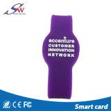 13.56MHz RFID regraváveis pulseira RFID de Silicone ajustável