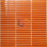 De heldere Oranje Tegel van het Mozaïek van het Glas van de Strook (PT106)