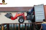 O Ce 2017 do tipo do lobo aprovado articulou o carregador da roda de 1.6 toneladas com motor de EPA, cabine de Rops&Fops
