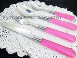 Jeu en plastique coloré réglé de vaisselle plate de traitement de couverts de traitement de picoseconde