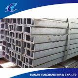 Perfil de aço U Shape Barra de canais laminados a quente