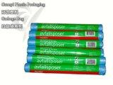 Bolsos de basura en el rodillo con el HDPE de la manija (GYGB1222-1)