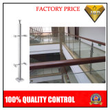 Escaleras de acero inoxidable con vidrio pasos Fabricación (JBD-B98)