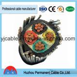 cabo blindado isolado PVC de cobre do LV do condutor 0.6/1kv